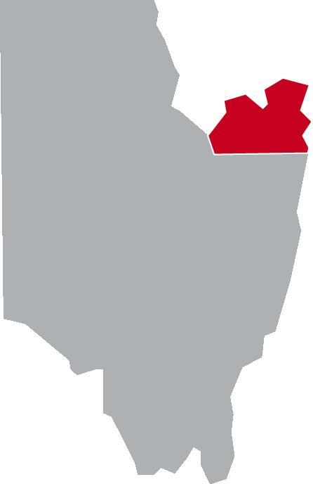 Map of Moreau, Saratoga County