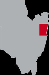 Map of Northumberland, Saratoga County