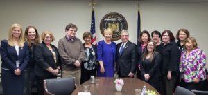 With Senator Tedisco and Assemblywoman Walsh
